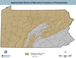 Marcellus Shale in PA (tan portion)